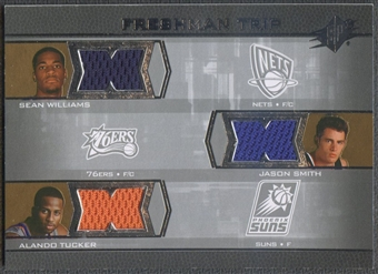 2007/08 SPx #STW Sean Williams Jason Smith Alando Tucker Freshman Orientation Triples Rookie Jersey