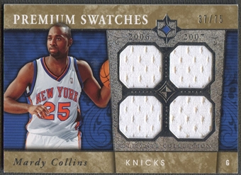2006/07 Ultimate Collection #PRMC Mardy Collins Premium Swatches Rookie Jersey #37/75