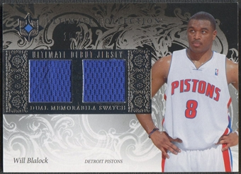 2006/07 Ultimate Collection #UDWB Will Blalock Debut Rookie Jersey #10/50