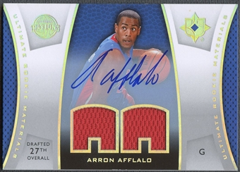 2007/08 Ultimate Collection #AA Arron Afflalo Materials Rookie Jersey Auto