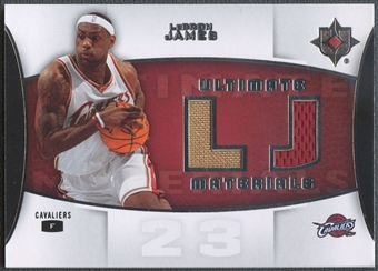 2007/08 Ultimate Collection #LJ LeBron James Materials Jersey