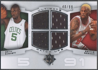 2007/08 Ultimate Collection #GR Kevin Garnett & Dennis Rodman Matchups Jersey #40/99