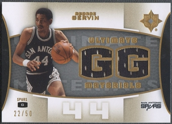2007/08 Ultimate Collection #GG George Gervin Materials Gold Jersey #22/50