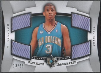 2007/08 Ultimate Collection #CP Chris Paul Leadership Jersey #13/99