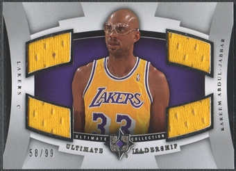 2007/08 Ultimate Collection #KA Kareem Abdul-Jabbar Leadership Jersey #58/99