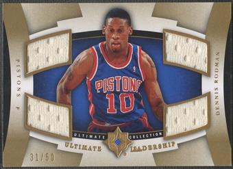 2007/08 Ultimate Collection #RO Dennis Rodman Leadership Gold Jersey #31/50