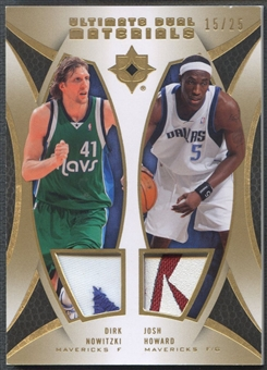 2007/08 Ultimate Collection #DNH Dirk Nowitzki & Josh Howard Materials Dual Patch #15/25