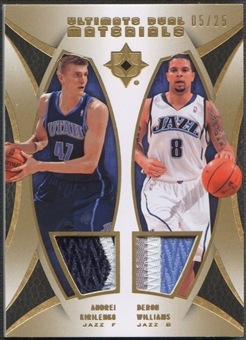 2007/08 Ultimate Collection #DKW Andrei Kirilenko & Deron Williams Materials Dual Patch #05/25