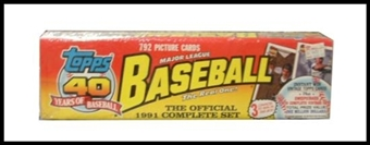 1991 Topps Baseball Factory Set (Christmas Set)