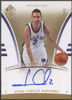 2007/08 SP Authentic #110 Juan Carlos Navarro Rookie Auto /999