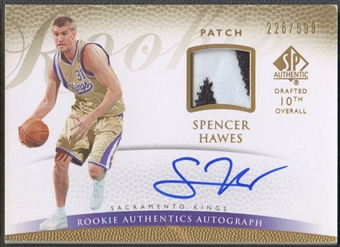 2007/08 SP Authentic #122 Spencer Hawes Rookie Patch Auto /599