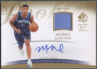 2007/08 SP Authentic #133 Morris Almond Rookie Patch Auto /599