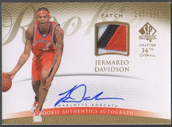 2007/08 SP Authentic #140 Jermareo Davidson Rookie Patch Auto #245/599