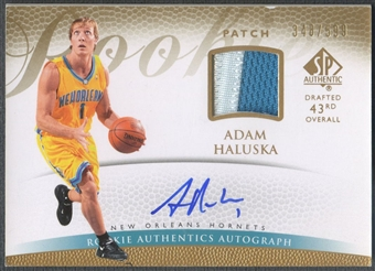 2007/08 SP Authentic #143 Adam Haluska Rookie Patch Auto #348/599