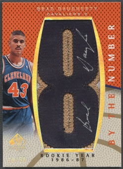 """2007/08 SP Authentic #BNDA Brad Daugherty By The Number Rookie Year """"8"""" Patch Auto #18/50"""