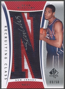 "2007/08 SP Authentic #RCSW Sean Williams Recruiting Class City Name Rookie Letter ""N"" Patch Auto #09/50"