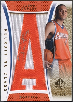 "2007/08 SP Authentic #RCDU Jared Dudley Recruiting Class Team Name Rookie Letter ""A"" Patch Auto #21/25"