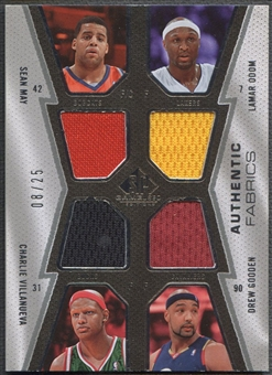 2007/08 SP Game Used #MOVG Sean May Lamar Odom Charlie Villanueva Drew Gooden Quad Jersey #08/25