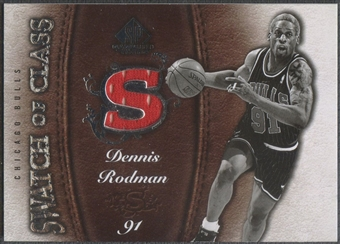 2007/08 SP Game Used #SCDE Dennis Rodman Swatch of Class Jersey