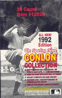 1992 Conlon Collection Baseball Box