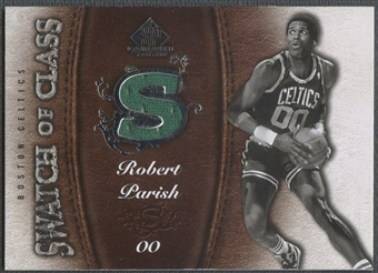 2007/08 SP Game Used #SCRP Robert Parish Swatch of Class Jersey