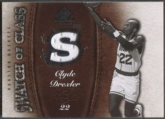 2007/08 SP Game Used #SCCD Clyde Drexler Swatch of Class Jersey