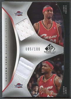 2006/07 SP Game Used #HJ LeBron James & Larry Hughes Authentic Fabrics Dual Jersey /100