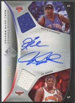 2006/07 SP Game Used #RJ Quentin Richardson & Joe Johnson Authentic Fabrics Dual Jersey Auto #38/50