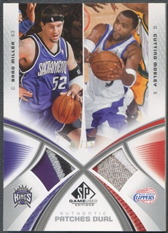 2005/06 SP Game Used #BC Brad Miller & Cuttino Mobley Authentic Fabrics Dual Patch #02/15