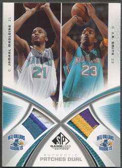 2005/06 SP Game Used #MS Jamaal Magloire & J.R. Smith Authentic Fabrics Dual Patch #02/15