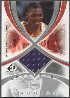 2005/06 SP Game Used #HO Hakeem Olajuwon Legendary Fabrics Jersey
