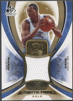 2005/06 SP Game Used #DH Dwight Howard Authentic Fabrics Gold Jersey #052/100