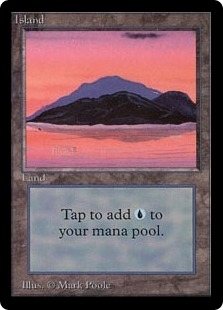 Magic the Gathering Beta Single Island (Ver 3) UNPLAYED (NM/MT)