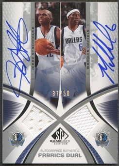 2005/06 SP Game Used #SD Jerry Stackhouse & Marquis Daniels Authentic Fabrics Dual Jersey Auto #37/50