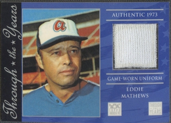 2002 Topps Tribute #EM Eddie Mathews Jersey
