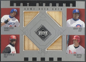 2002 Upper Deck Diamond Connection #GSGB Green Sosa Griffey Burrell Quad Bat