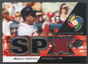 2006 SPx #MC Miguel Cabrera Winning Materials Jersey