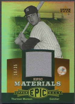 2006 Upper Deck Epic #TH1 Thurman Munson Materials Dark Orange Jersey #16/35