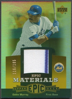 2006 Upper Deck Epic #EM1 Eddie Murray Materials Orange Jersey #116/185