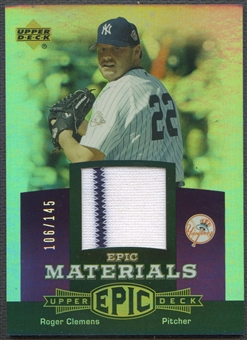 2006 Upper Deck Epic #RC1 Roger Clemens Materials Dark Purple Jersey #106/145