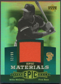 2006 Upper Deck Epic #WM3 Willie McCovey Materials Teal Jersey #52/99