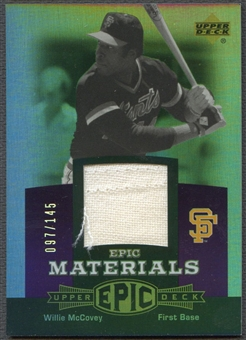 2006 Upper Deck Epic #WM3 Willie McCovey Materials Dark Purple Pants #097/145