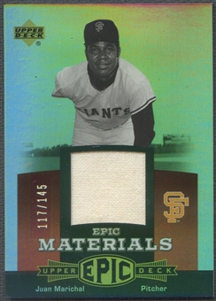2006 Upper Deck Epic #JM Juan Marichal Materials Red Jersey #117/145