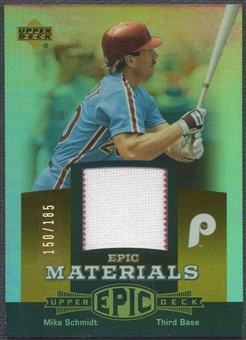 2006 Upper Deck Epic #MS1 Mike Schmidt Materials Orange Jersey #150/185