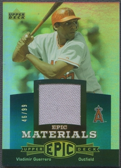 2006 Upper Deck Epic #VG2 Vladimir Guerrero Materials Teal Jersey #46/99