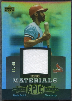2006 Upper Deck Epic #OS2 Ozzie Smith Materials Grey Jersey #10/40