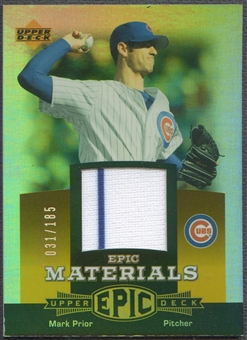 2006 Upper Deck Epic #MA Mark Prior Materials Orange Jersey #031/185