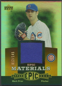 2006 Upper Deck Epic #MA2 Mark Prior Materials Dark Orange Jersey #012/145