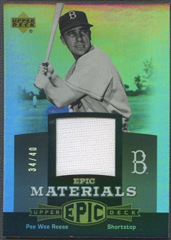2006 Upper Deck Epic #PR1 Pee Wee Reese Materials Grey Jersey #34/40
