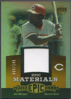 2006 Upper Deck Epic #JO2 Joe Morgan Materials Dark Orange Jersey #005/145